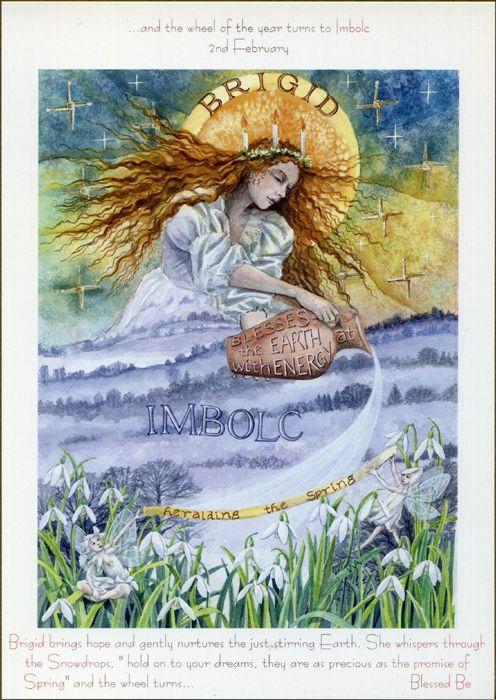 Love this image of Brigid bringing the Spring.