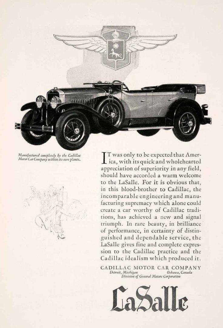 1927 ad lasalle motor car cadillac vehicle mobile oshawa detroit michigan ngm3