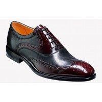 Barker Shoe Style: Bakewell - Burgundy Hi-Shine / Black Nappa