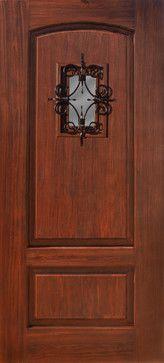 Two Panel Florentine Speakeasy Front Door Fiberglass