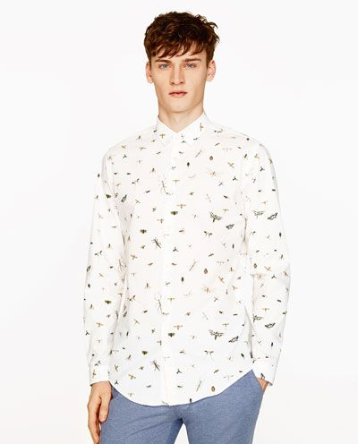 Image 2 of INSECT PRINT SHIRT from Zara