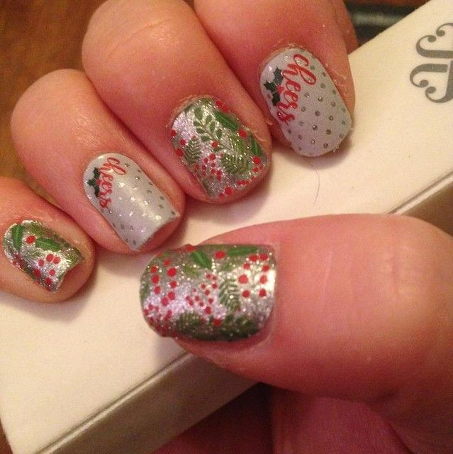 Holiday Cheer, Jamberry Nail Wraps, Easy Christmas Design You Can Do At Home