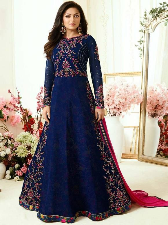 0fd527ac4d2 Buy lastest Anarkali Suits and designs, long floor length Anarkalis with  embroidery for festival and occasions at most reasonable price UK.