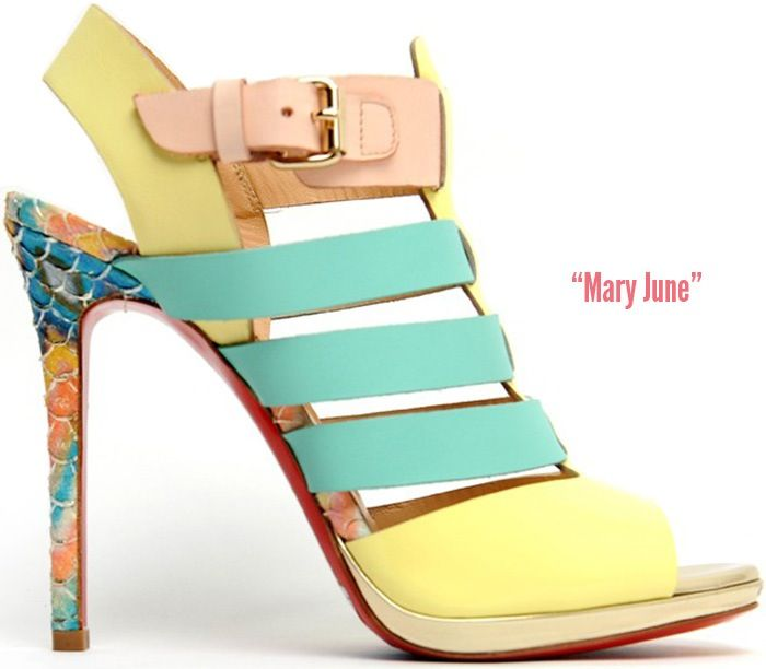 Christian Louboutin\u0027s Spectacular Designs for \u201cMary June\u201d Sandal Spring/ Summer 2014