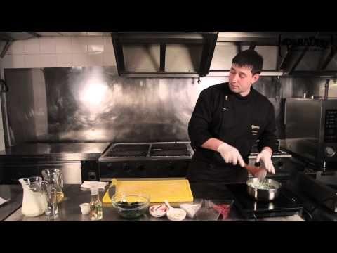 Крем-суп из шпината с крабовым мясом