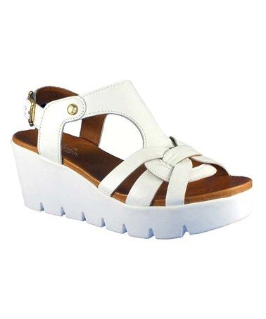 Love this White Paige Leather Sandal on #zulily! #zulilyfinds
