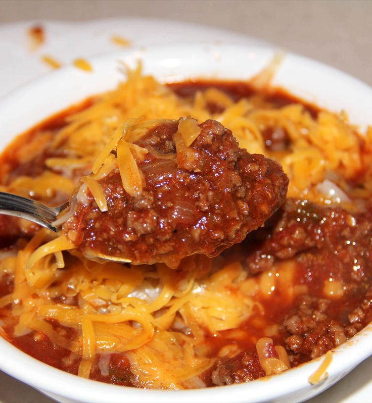 Chili without Beans is full of beef, peppers, tomatoes, and spices—it's so flavorful and just right for game day or a chilly night at home!