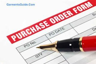 We need to know about Receipt of an Order in Apparel Merchandising guide.