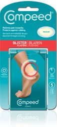 In Europe, they use COMPEED® Blister Plasters.  The granddaddy of all hydrocollodial bandages (they suck the fluid out of your blister without breaking the skin), they are best applied at the first sign of trouble to clean skin (swab with alcohol).  They stay on for several days and sort of fall off by themselves.  In fact, the adhesive is so strong that you should not try to remove them before they're ready--you could rip open your skin!  Available in a staggering variety of shapes and…