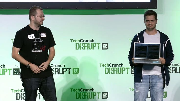 John Pagonis from Missum and Antonis Argyros from liateR present their project during TechCrunch Disrupt #hackathon event in San Francisco.  http://www.metavallon.org/metavallonus2014-the-silicon-valley-gateway-to-startup-growth/