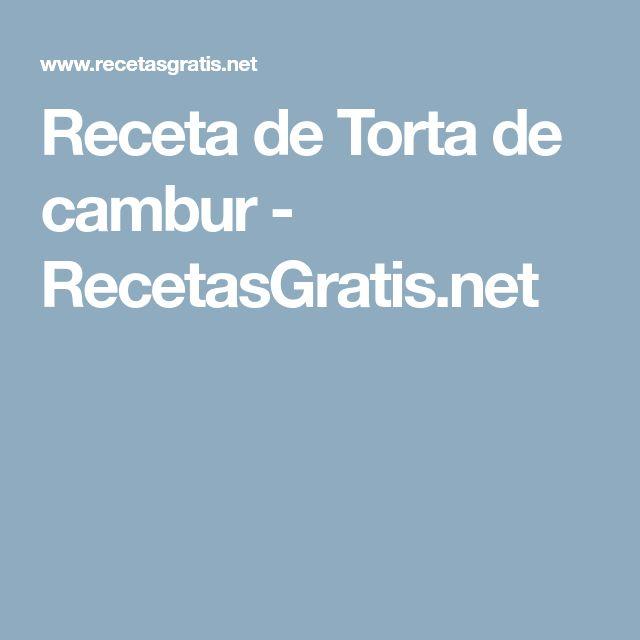 Receta de Torta de cambur - RecetasGratis.net