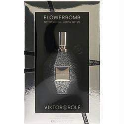 Flowerbomb By Viktor & Rolf Eau De Parfum Spray 1.7 Oz (limited Edition Black Sparkle)