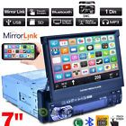 "7"" Single 1 Din Car GPS Touchscreen In Dash Stereo Radio Bluetooth FM MP5 Player"