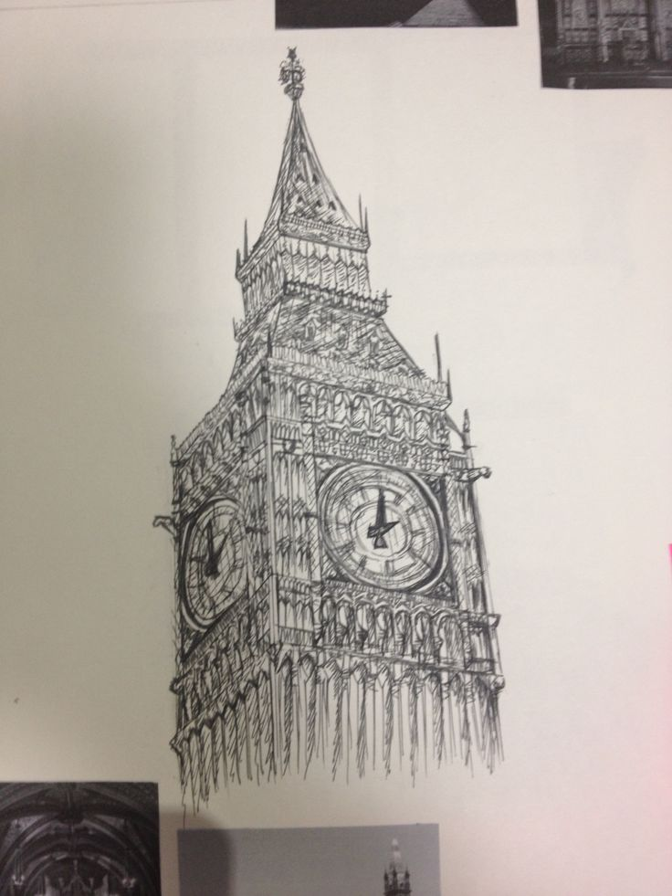 Big Ben pen drawing