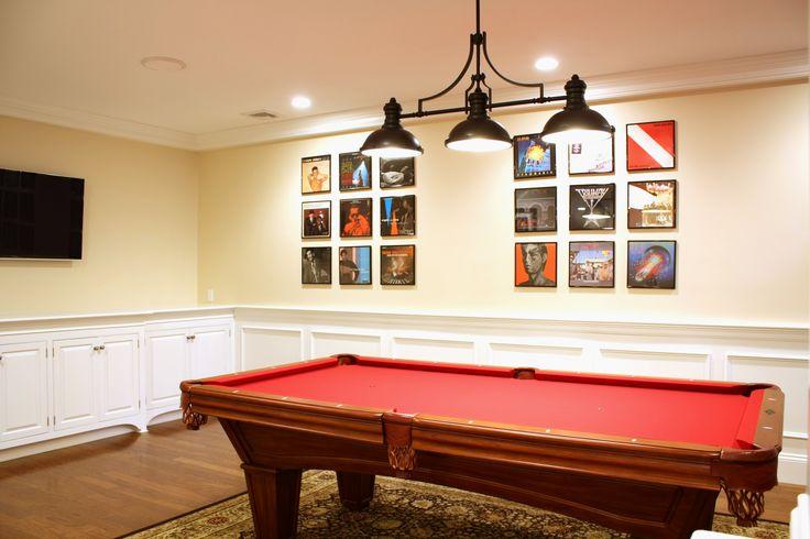 Basement Remodel, home billiards room, pool table
