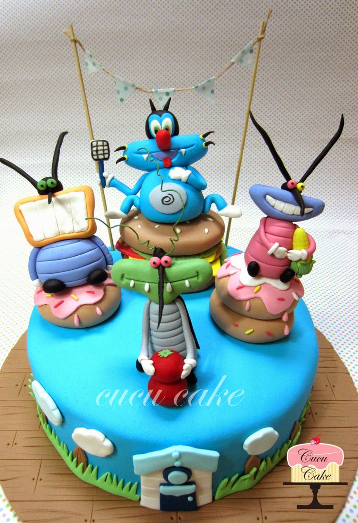 Oggy and the cockroaches Cake | Cucu Cake