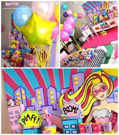 Superhero Barbie Birthday Party via Kara's Party Ideas | KarasPartyIdeas.com