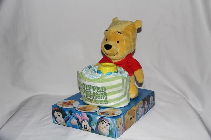 Winnie the Pooh Honey Pot Diaper Cake 2