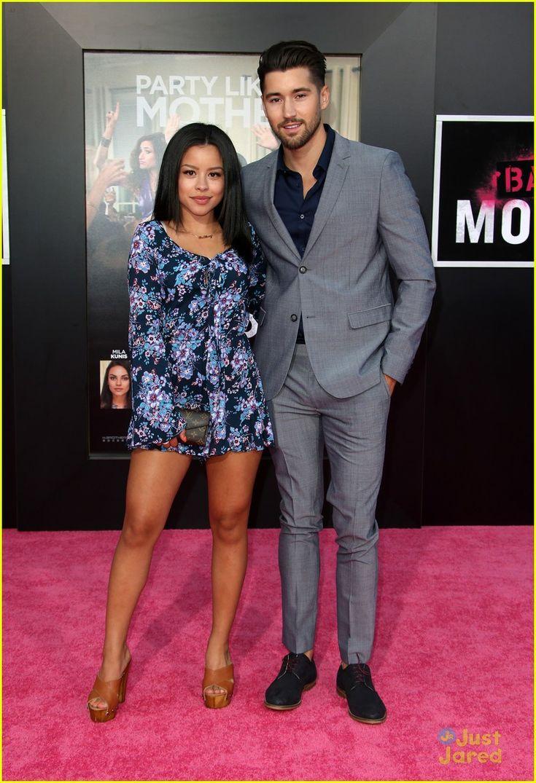 Cierra Ramirez and her boyfriend Jeffrey Wittek at the premiere of Bad Moms