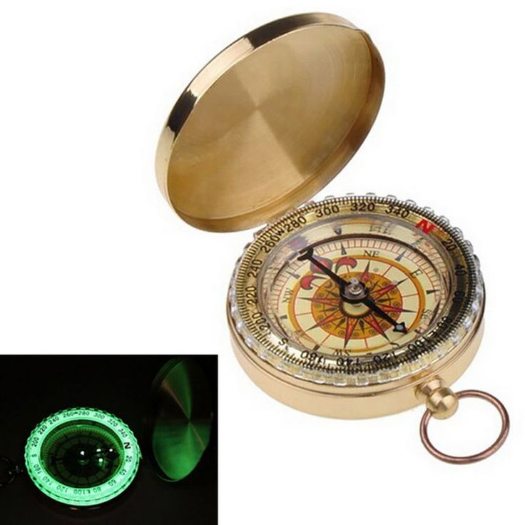 Outdoor Camping Hiking Portable Pocket Brass Gold Color Copper Compass Navigation Hot Sale #clothing,#shoes,#jewelry,#women,#men,#hats,#watches,#belts,#fashion,#style