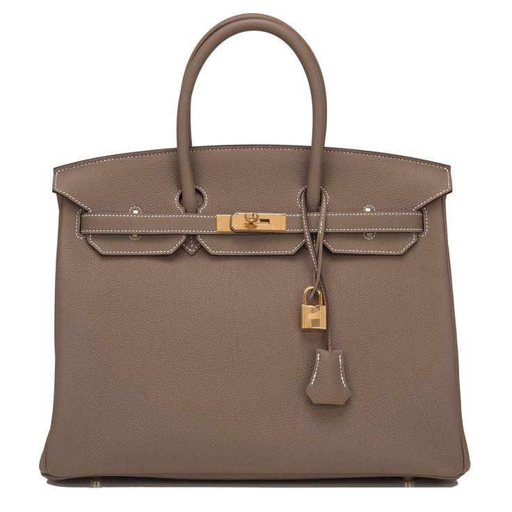 Hermes Birkin Bag 35cm Etoupe Togo Gold Hardware Image 1