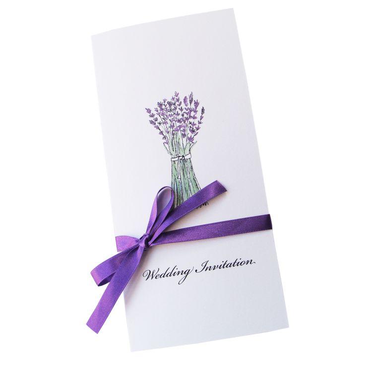 Lavender Wedding Invitation, £3.80, A Farmer's Daughter