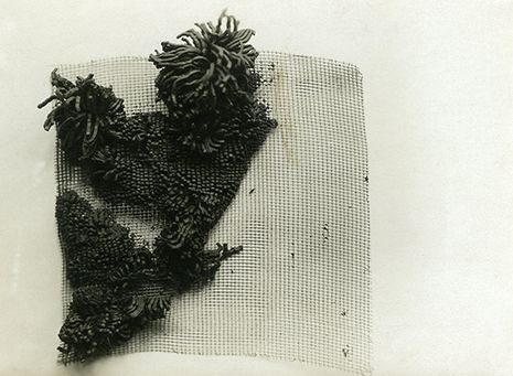Study in material characteristics: the effect of wire mesh on plasticine, ca. 1927–31 Bauhaus Dessau silver gelatin print