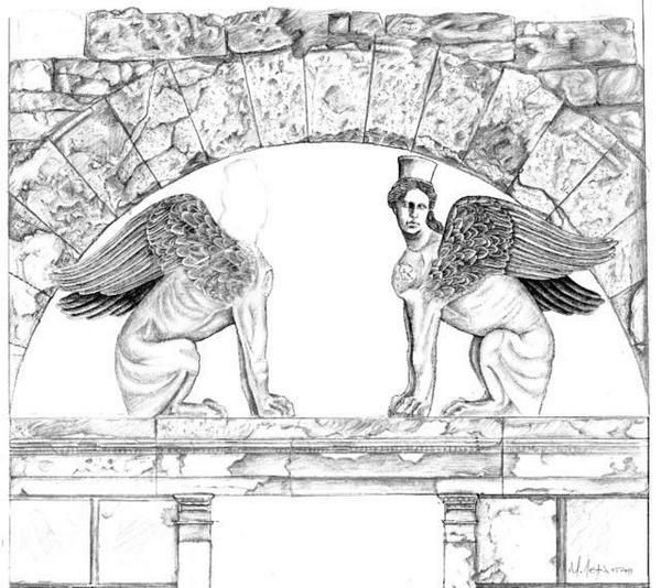 Parts of the wings of the Sphinxes were discovered - Full restoration of the wings is now possible.