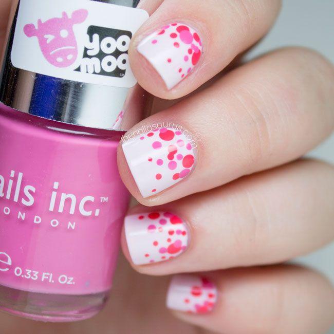 Simple and pretty Polka Dot Nail Art