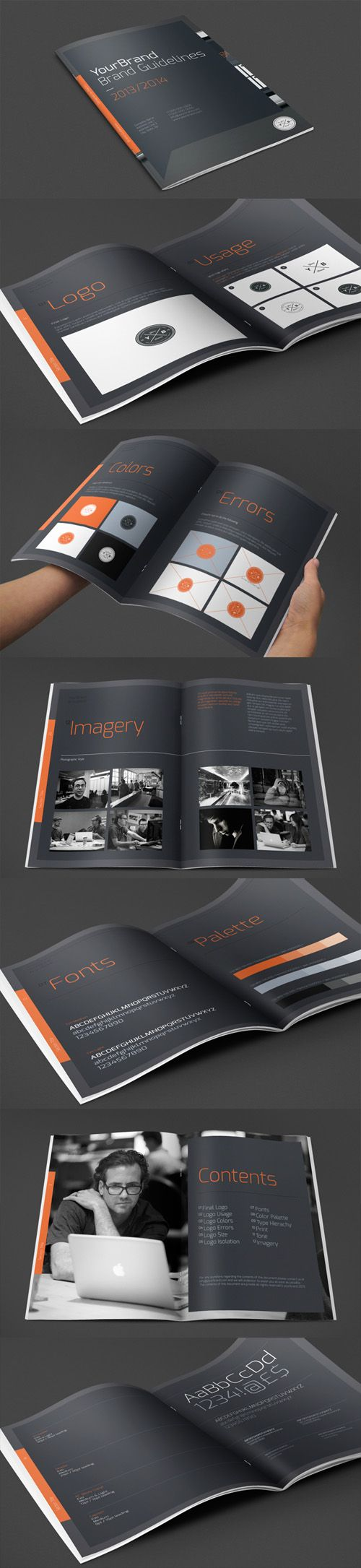Brand Guidelines Brochure Design Professional business brochure designs