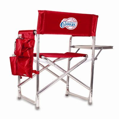 Picnic Time NBA Sports Chair Color: Red, NBA Team: Los Angeles Clippers