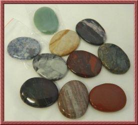 Worry Stone: 45mm Gemstone Oval x 1