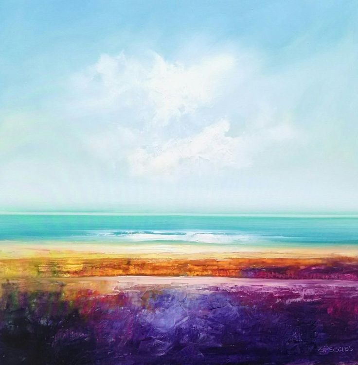 FINEARTSEEN - Summers Tides by George Peebles. Find the perfect artwork for your home or space. An original abstract seascape painting available on FineArtSeen l The Home Of Original Art. Enjoy FREE DELIVERY on every order. Art for art lovers, interior designers and project managers. << Pin For Later >>