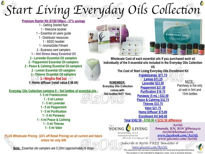 Premium Start Living kit - Contact me if interested in joining Young Living to purchase wholesale