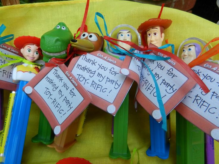 perfect favors for toy story and pez obsessions