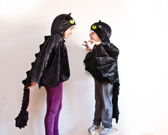 Black Dragon bambini Costume, Costume del partito o ali di Costume di Halloween Kid, come addestrare il vostro drago sdentato