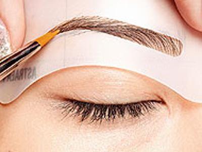 grooming schablone make-up gestalten dIY beauty augenbrauen vorlage schablonen make up tools