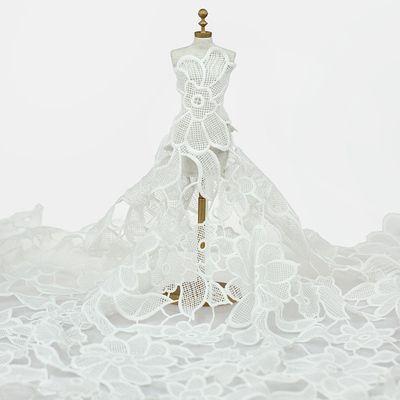 White Water Dissolve Floral Cotton Lace Trim 55 Wide | WholePort.com