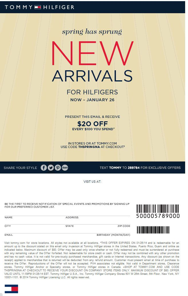 image regarding Tommy Hilfiger Outlet Coupon Printable referred to as Tommy discount codes printable 2018 / Staples discount codes for printing