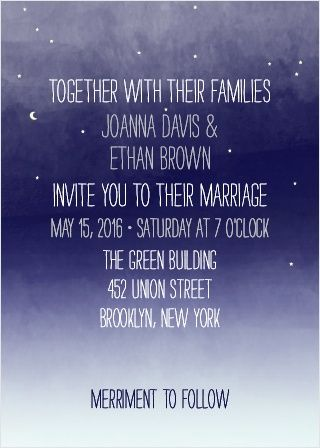 Invite friends and family to celebrate your upcoming union with the Pretty Lights Foil Wedding Invitations.
