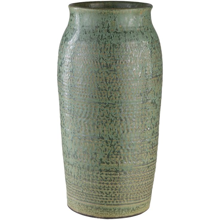 Asim Green Ceramic Traditional Decorative Vase (10 to 15 Inches)