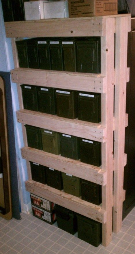 How to make an ammo can shelf unit