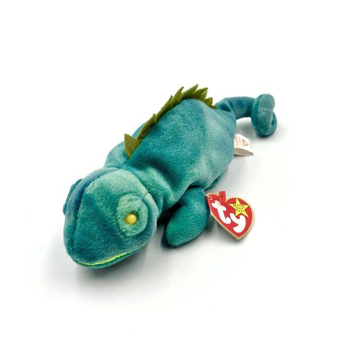 *BNWT* Ty Beanie Babies Iggy The Iguana 🦎 Vintage 1997 Comforter Children's Toy