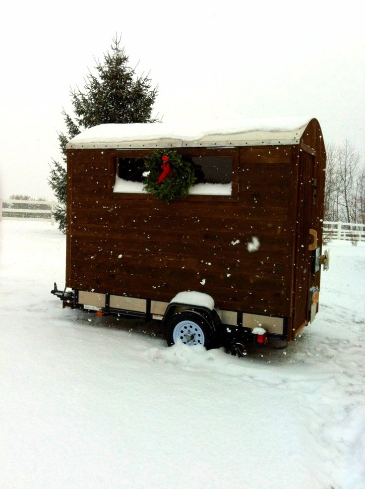 Brought my mobile sauna home for the holidays! Merry Christmas from Lakesauna.com
