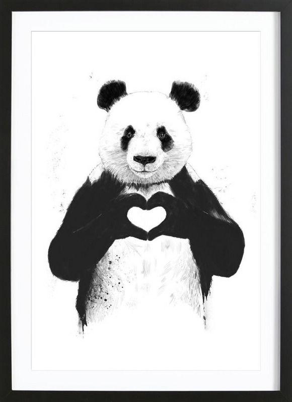 All You Need Is Love en Affiche premium encadrée | JUNIQE