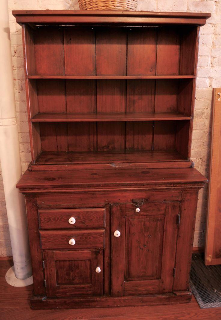 Antique Primitive Step Back Cupboard