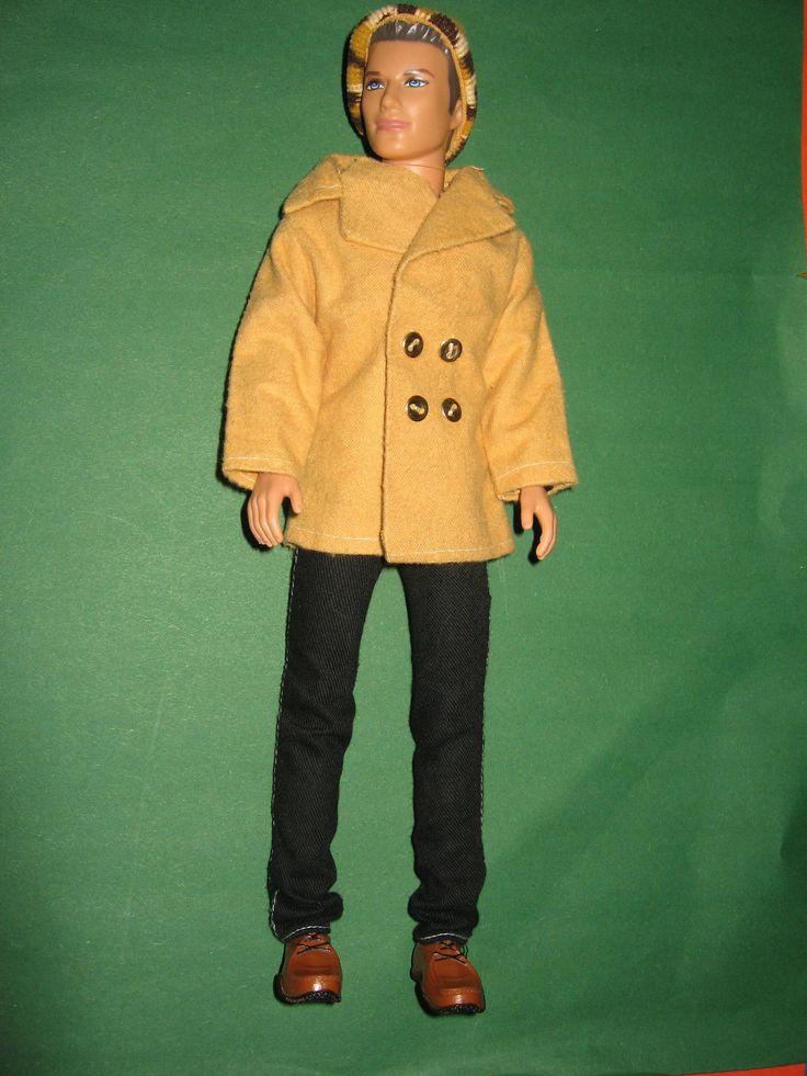 B214 MODERN BARBIE KEN MATTEL 2004 černovláska cast-HAIR zimní oblečení