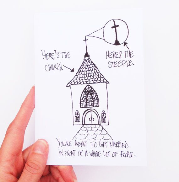 wedding card heres the church heres the steeple by wellowlbee 400 cards cards wedding cards wedding