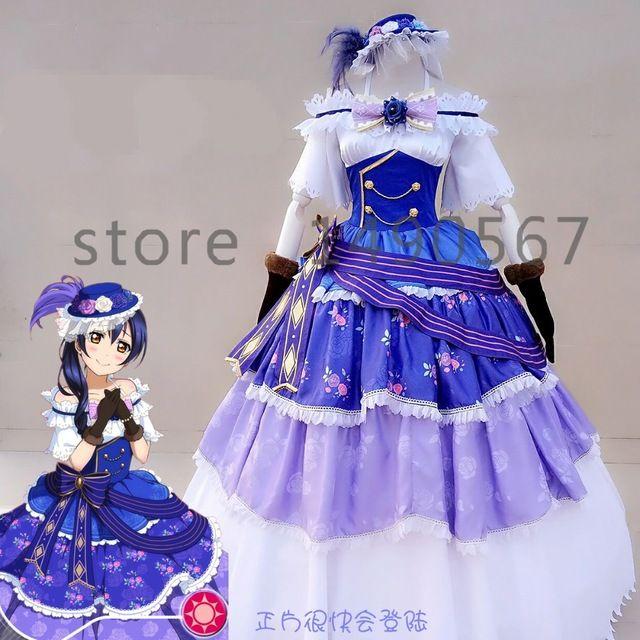Amor vivo! Sonoda Umi bola cos vestido Cosplay fancy tribunal vestir de Halloween traje para mujeres
