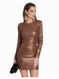 Cowl Back Sequin - Club L - Rose Gold - Party Dresses - Clothing - Women - Nelly.com